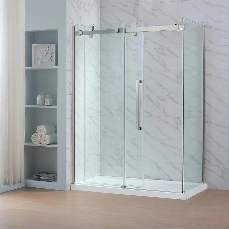Fascinating Ove Decors Glendale H X W Clear Shower Glass Panel Shop Bathtub Shower Door Glass At Shower Glass Panel Track Shower Glass Panel Cost houzz-03 Shower Glass Panel