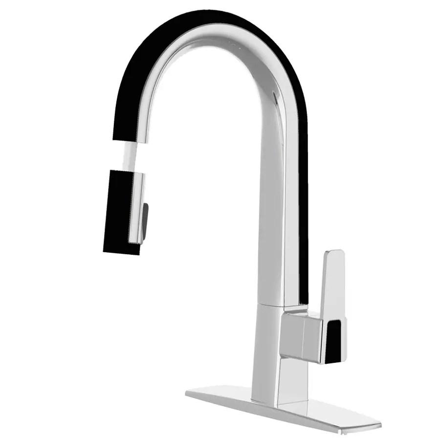 black kitchen faucets black kitchen faucet cleanflo matisse chrome and black 1handle pulldown kitchen faucet