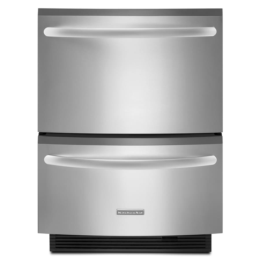Loweu0027s KitchenAid 23375Inch Double Drawer Dishwasher Color Stainless