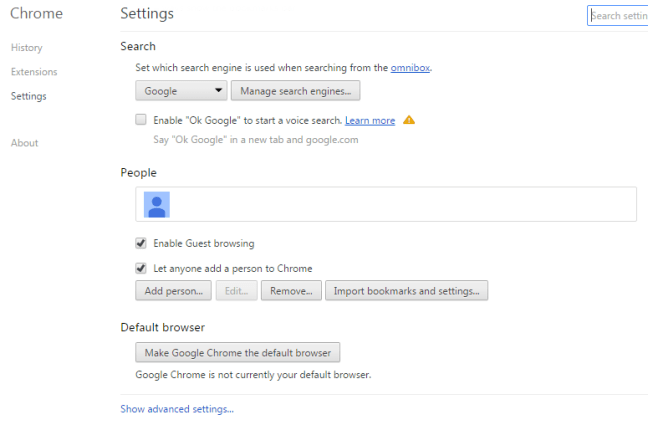 get rid of ads by Chrome settings