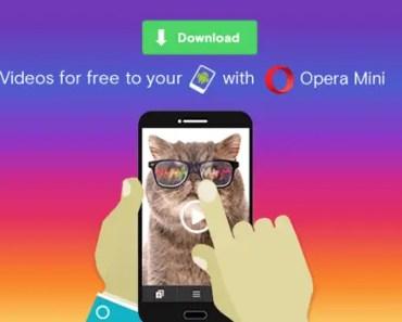 download videos on Opera Mini