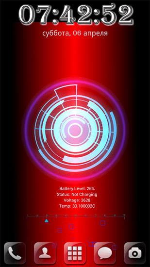 Battery core live wallpaper for Android. Battery core free download for tablet and phone.