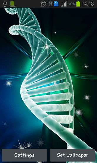 DNA live wallpaper for Android. DNA free download for tablet and phone.