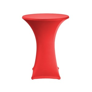 Red Lyrca Spandex Table Hire 2