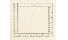 Six Inches Four Ways, 1976Rubber stamp print, 8 1/2 x 8 1/2 inches (21.59 x 21.59 cm)Gift of Ruth and Richard Shack