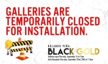 Closed for Installation Black Gold-01