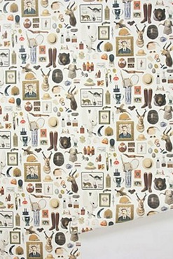 New Antiquitarian wallpaper from Anthropologie - Retro to Go