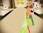 AbbyJean wearing ghee's 'Sandwashed Gown'