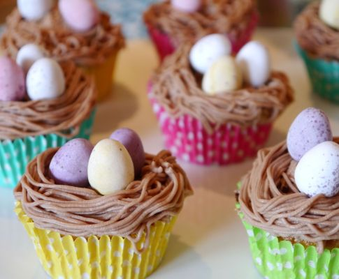 Easy Easter Nest Cupcakes