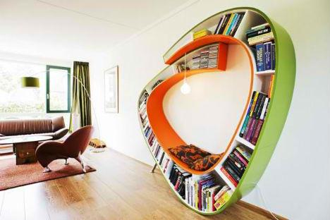 Bookshelf cum reading bench