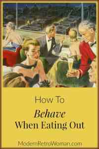 How to Behave When Eating Out