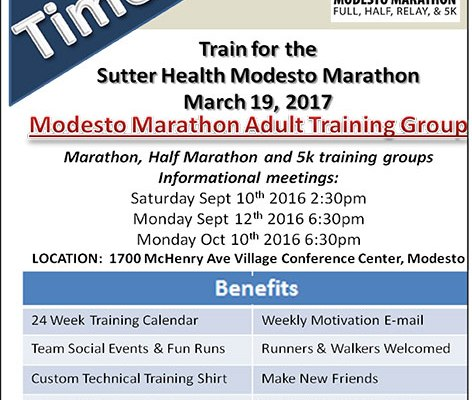 Training group promotional flier 2016-17
