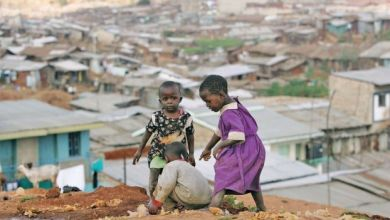 Kenyan children play in Nairobi's sprawling Mathare slum
