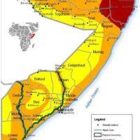 خريطة توضح المناطق التي ضربها الجفاف الحاد