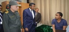 وزير الخارجية يطمئن على المصابين الصوماليين في عدد من المستشفيات العسكرية بالقاهرة