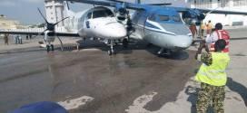 تصادم طائرتين في مطار آدم عدي الدولي