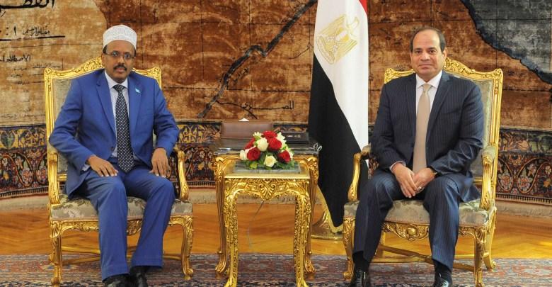 580729-الرئيس-السيسى-ورئيس-الصومال