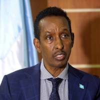 Somali Foreign Minister Ahmed Isse Awad speaks during an interview with Reuters in Mogadishu, Somalia April 20, 2018 REUTERS/Feisal Omar