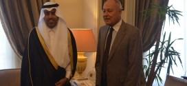 رئيس البرلمان العربي يجتمع مع الأمين العام لجامعة الدول العربية في القاهرة