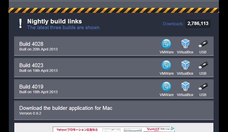 Chromium OS builds by Hexxeh02