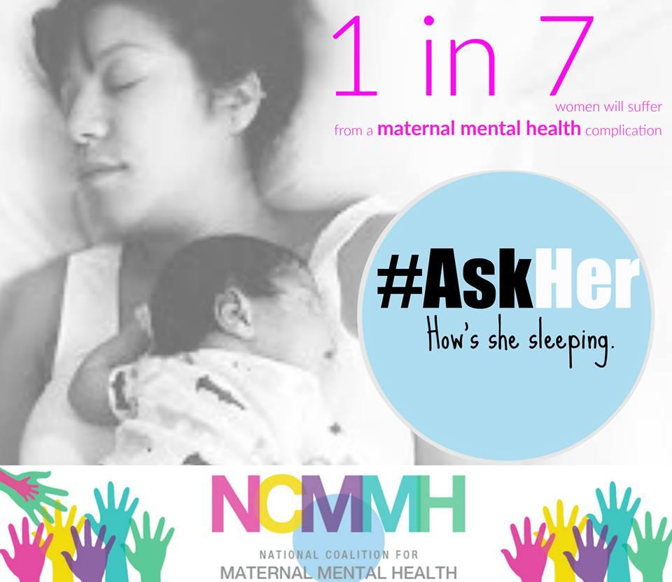 4. maj svetovni dan duševnega zdravja mam; #AskHer