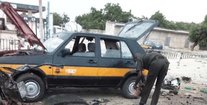 Photos From Scene Of Bomb Blast At Muna Garage, Maiduguri This Morning