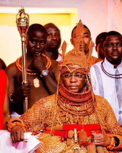 Behold! The 39th Oba Of Benin In His Regal Glory(Up Close Photo)