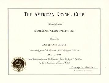 Darlin CGC Certificate