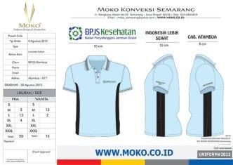 Konveksi Pembuatan Kaos Polo Shirt BPJS