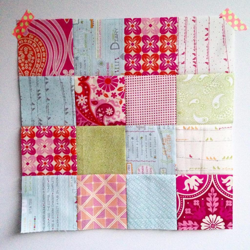 Sometimes theres nothing better than some simple patchwork! Can Ihellip