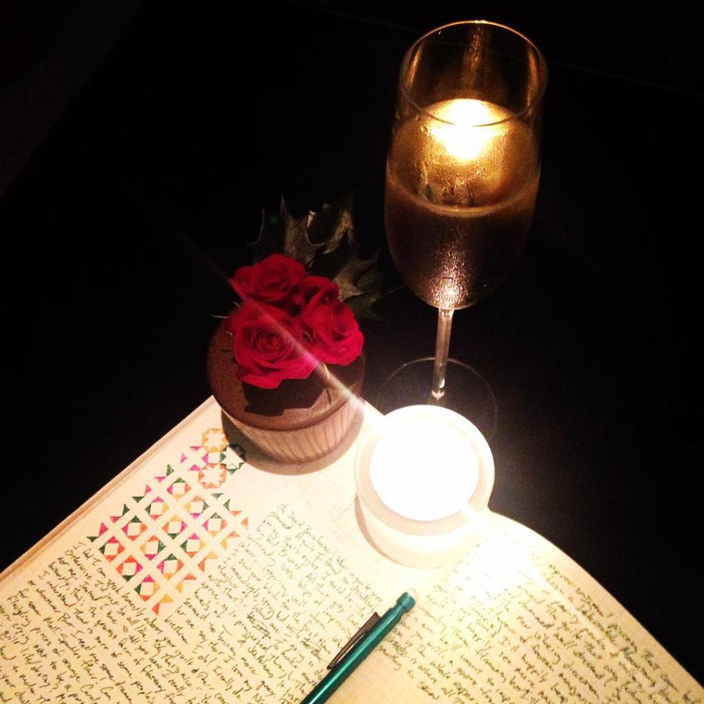 Blogging by candlelight and louisroederer champagne The next ngaqb2 quilthellip