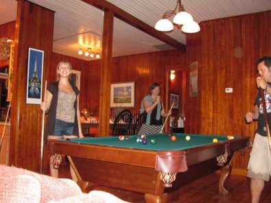 Exhilarating game of billiards
