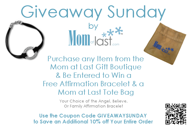 Giveaway Sunday on Mom at Last