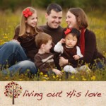 Living out his love adoption family