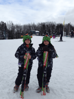 Sons of a Mom at Last Skiing