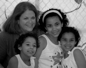 Wendy Thomas with 3 Adopted Sisters