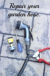 Repair your garden hose. Five minutes and less than $7.00!