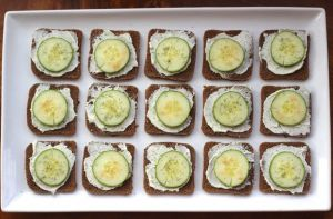 cucumber sandwich appetizer