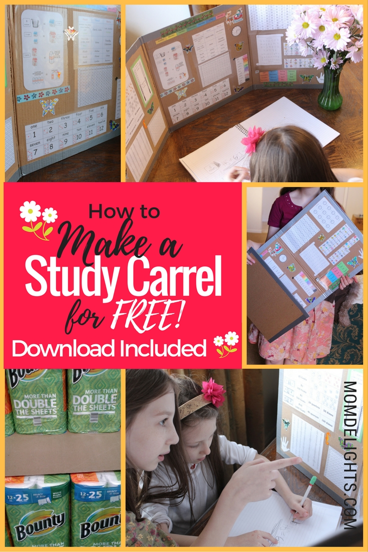 How to make a study carrel pin