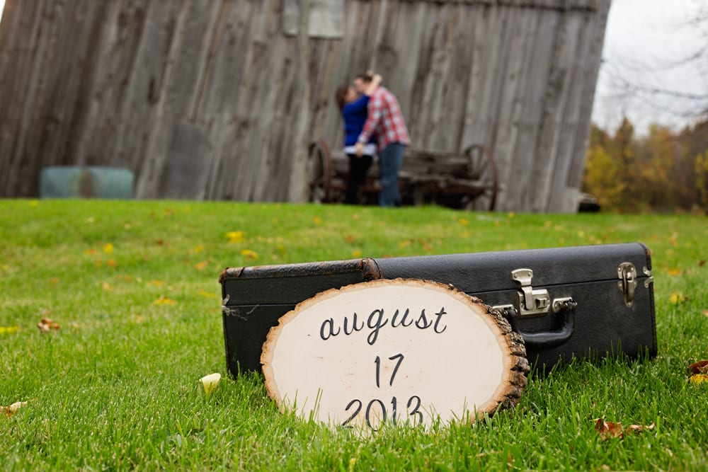 Cornwall Engagement Sessionsave the date plaque