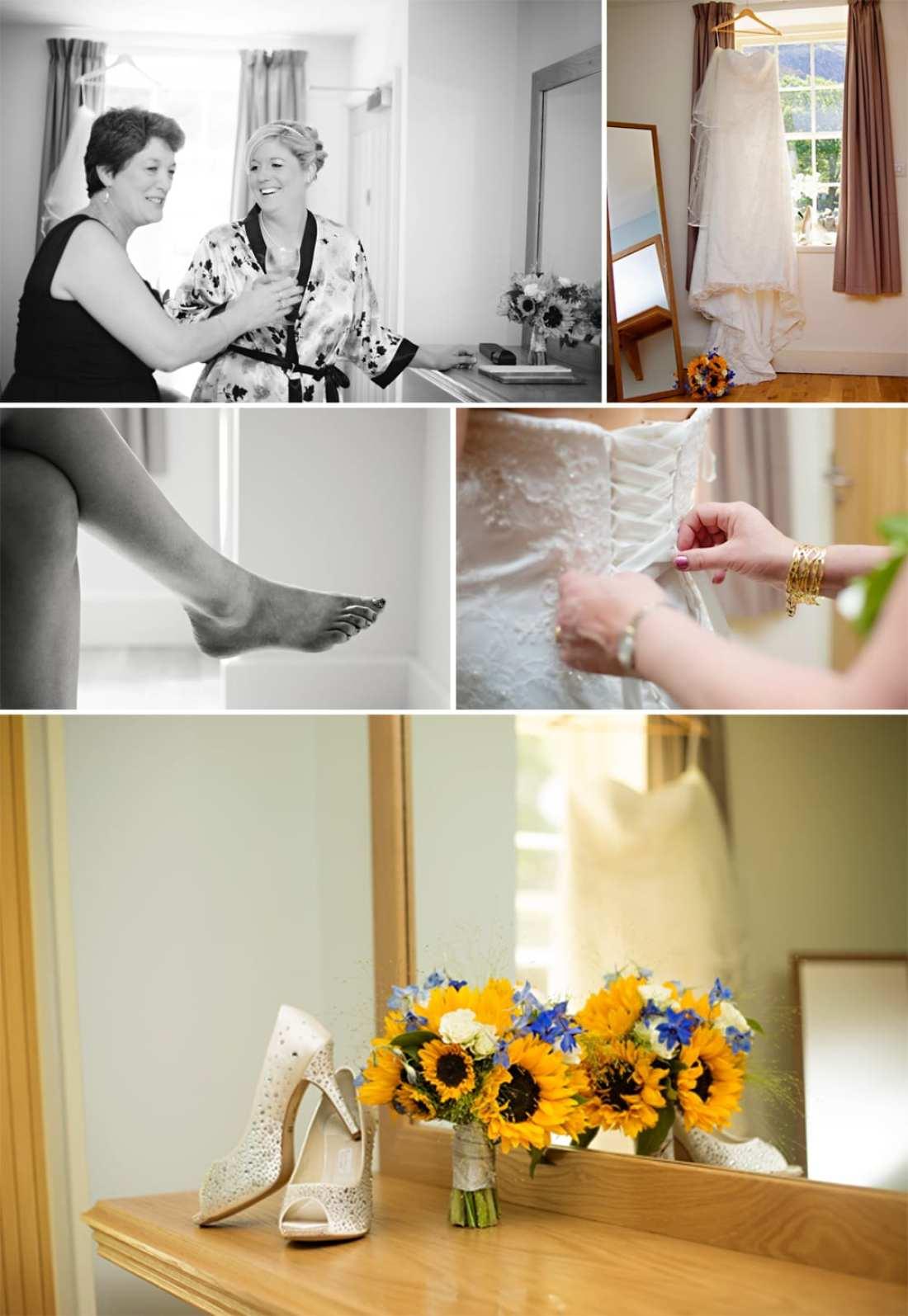 North Wales wedding - sunflower bouquet