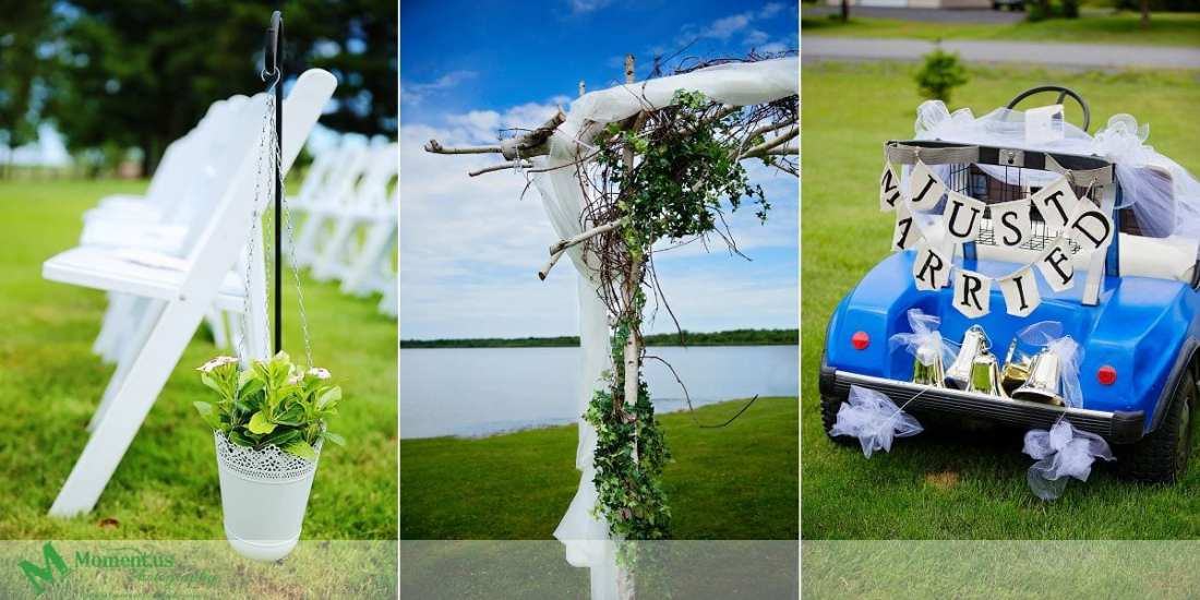 Outdoor Cornwall Wedding - golf cart