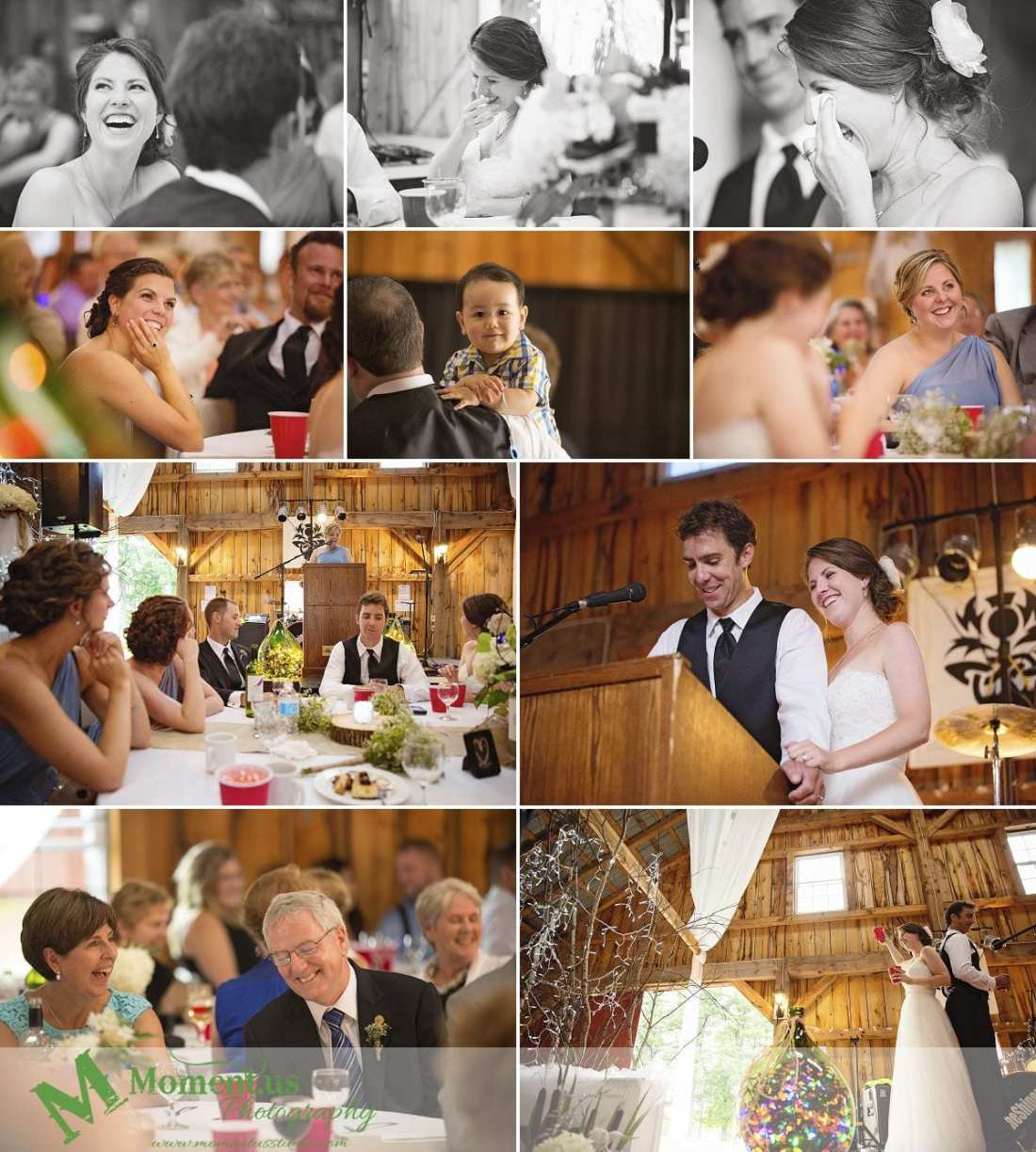 Williamstown Country Wedding - laughing during speeches