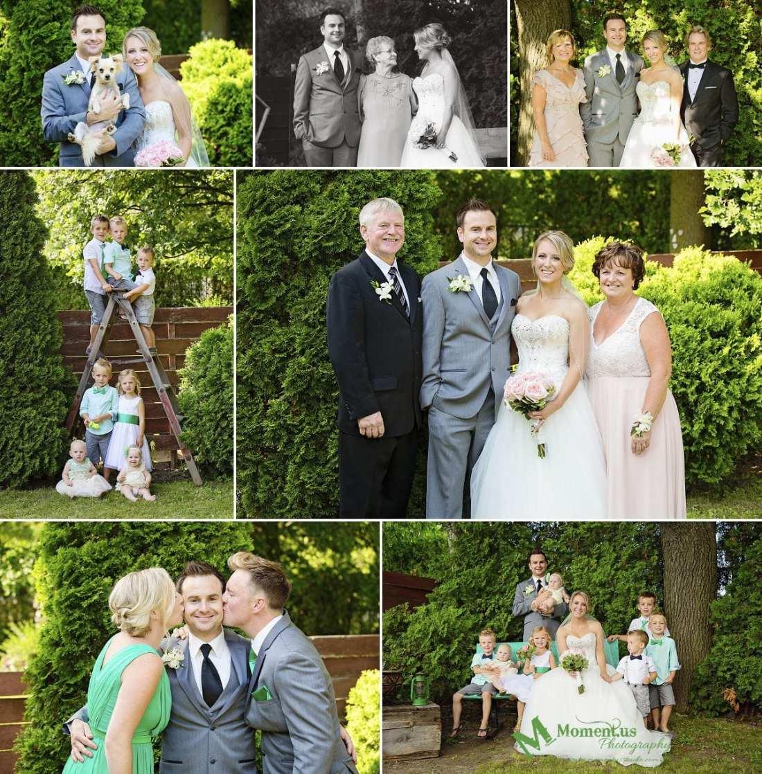 Elegant Cornwall wedding - kids on stepladder