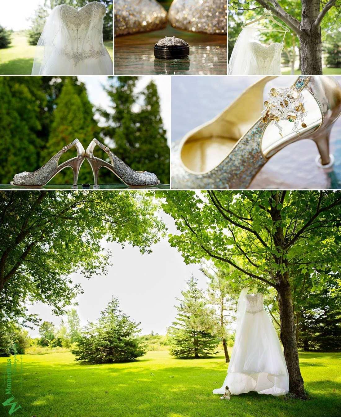 Elegant Cornwall wedding - gold glitter shoes