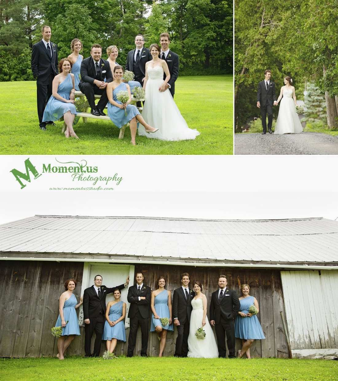 Williamstown Country Wedding - wedding party on picnic table