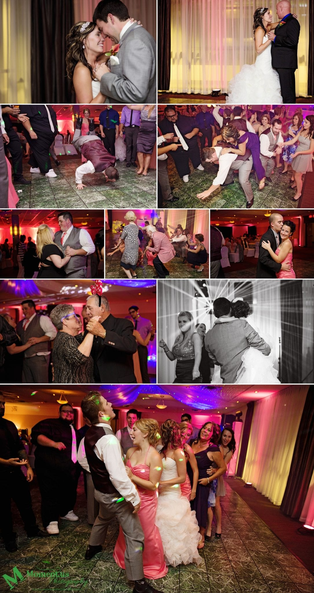 NAVCentre wedding party on dancefloor - Cornwall wedding photographer