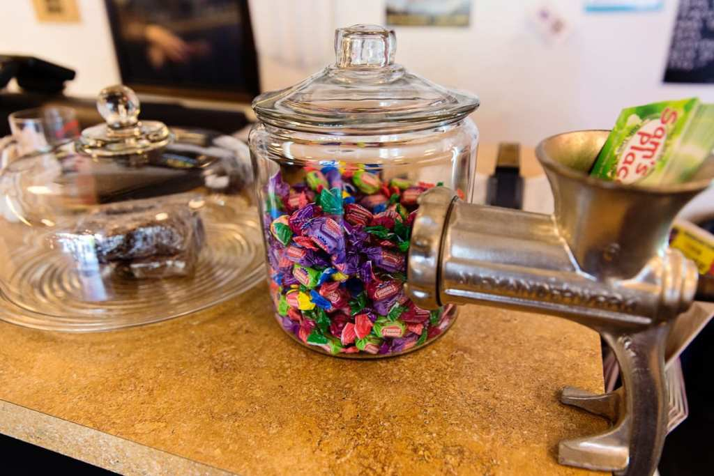 Candy jar in Sam's Place diner Peterborough