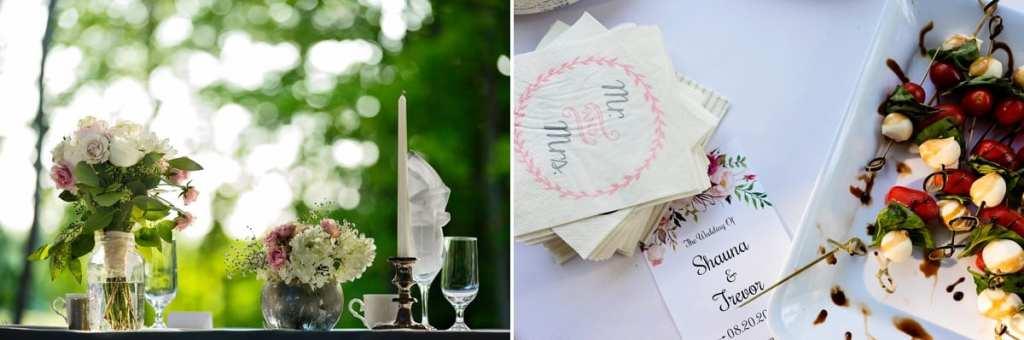 Rural Ontario backyard wedding details