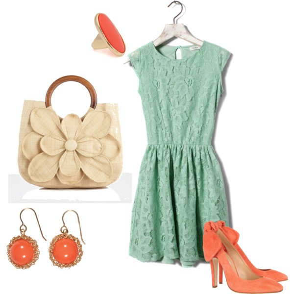 Coral and Teal Trend 06